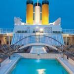 Piscina exterior Costa Cruceros