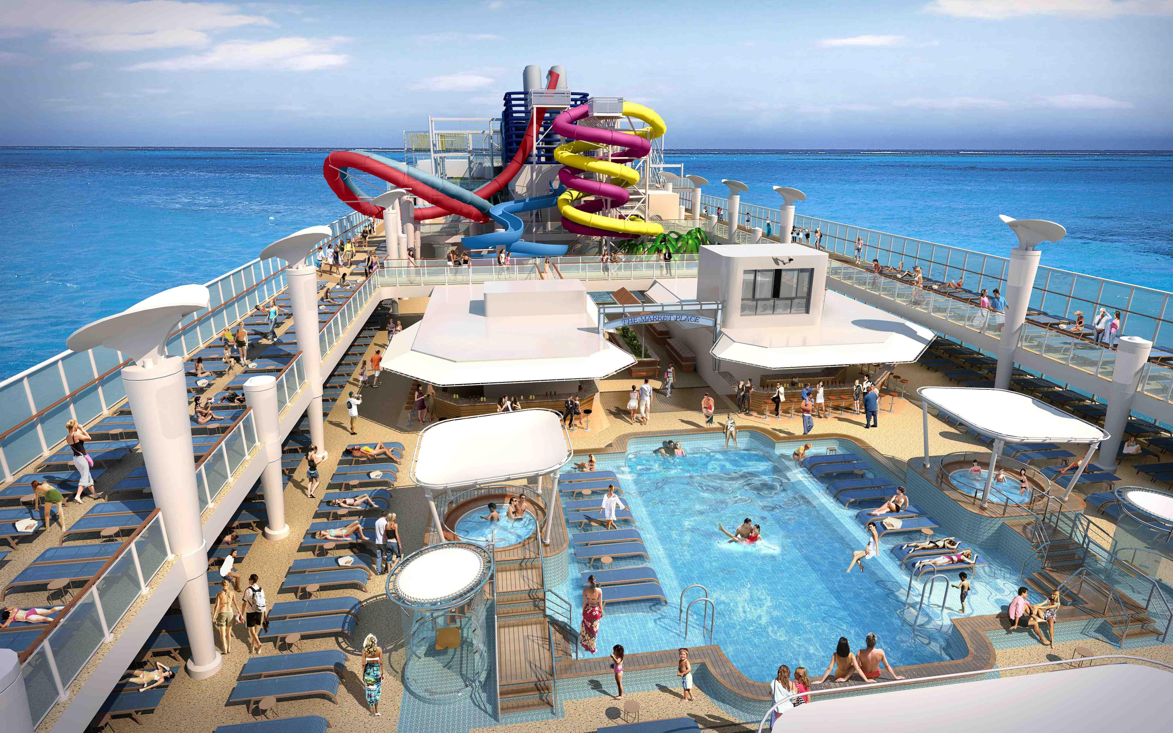 Crucero NCL toboganes y piscina