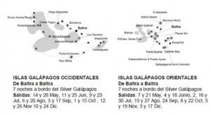 Silversea Galápagos. Itinerario