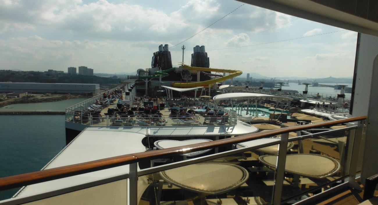 Espectaculares vistas de todo el barco