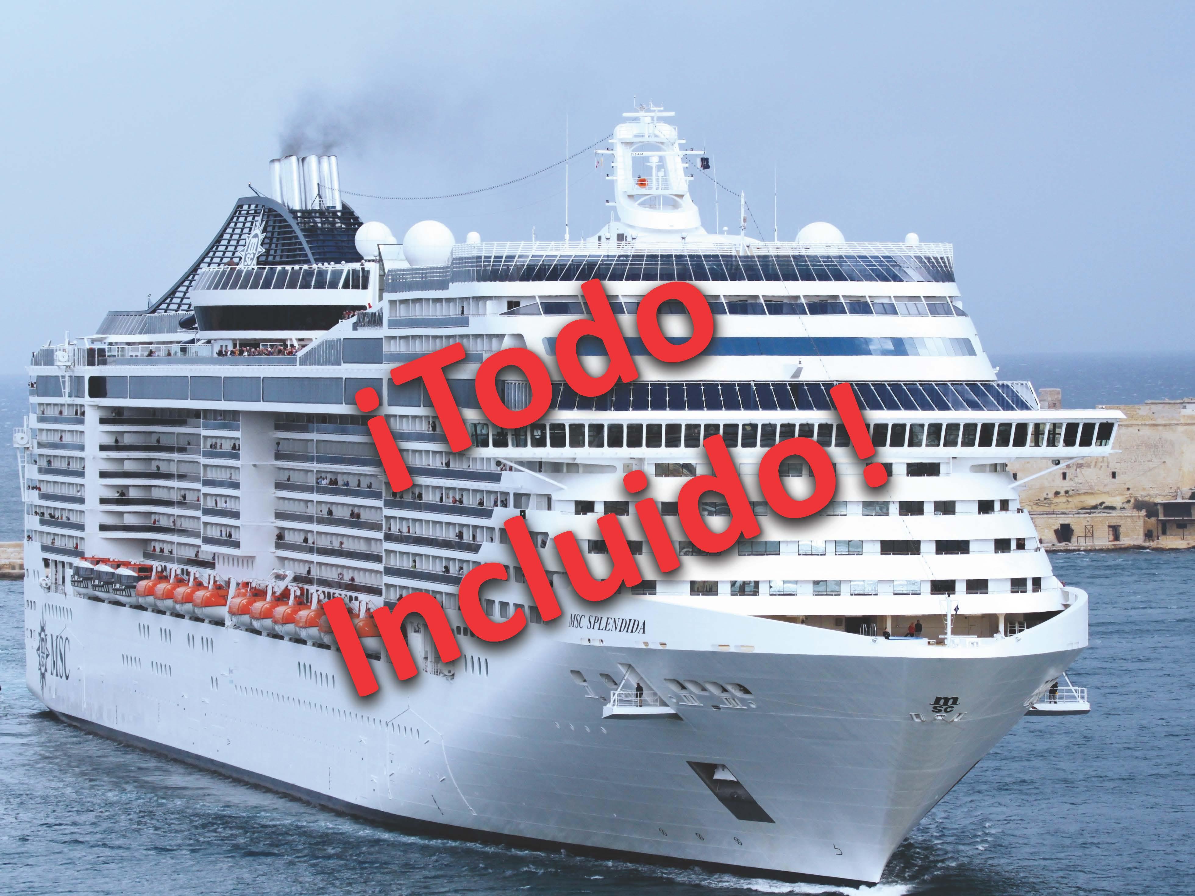 ¡Viaja sin preocupaciones! en un Crucero Todo Incluido