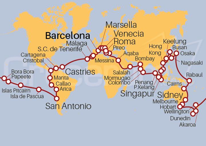 Vuelta al mundo Costa Cruceros 2022