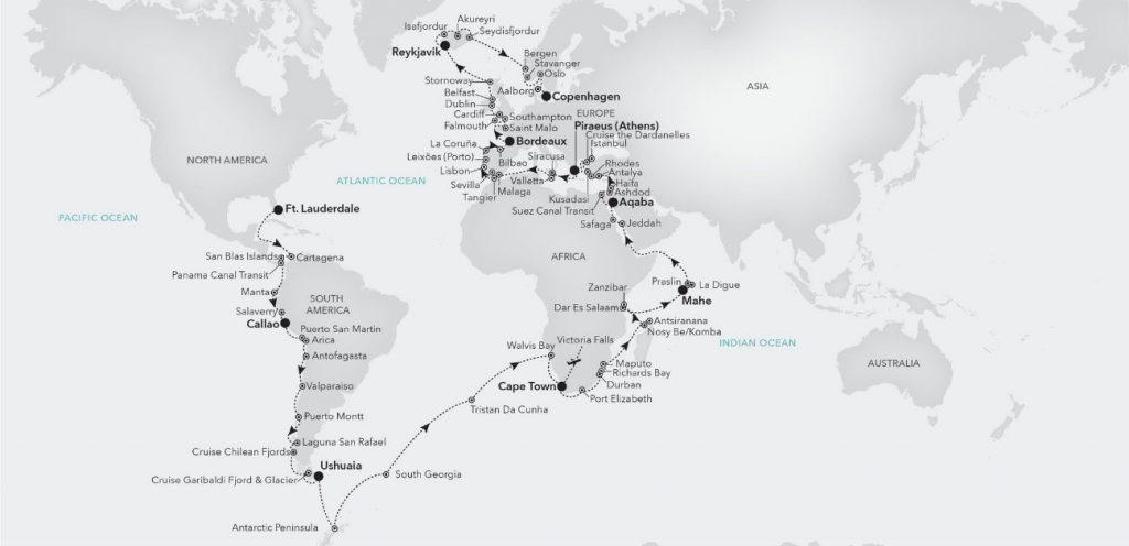Vuelta al mundo Silversea 2022