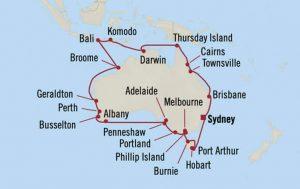 itinerario crucero australia
